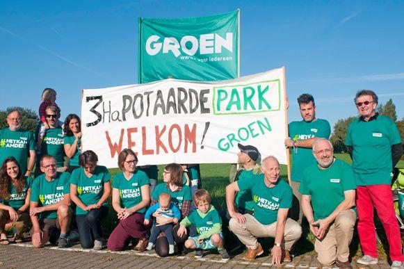 Voor Groen staat het buiten kijf dat er in het gebied 'Potaarde' een park van drie hectare wordt voorzien.