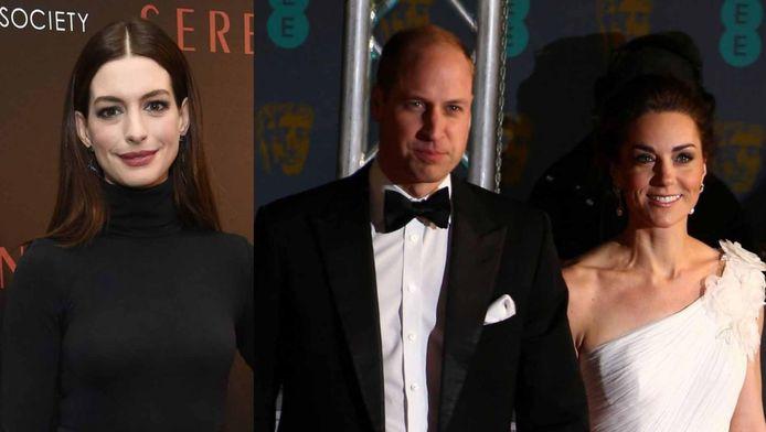 Anne Hathaway et le couple William et Kate
