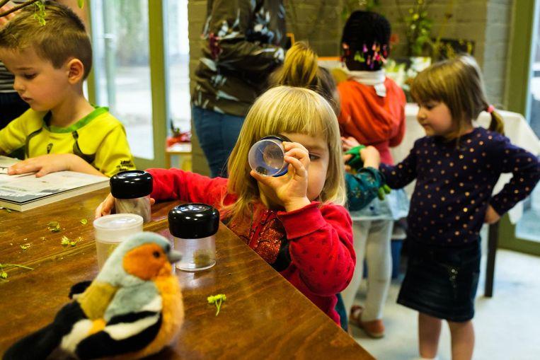 In de bioklas kunnen kinderen de natuur op een speelse manier ontdekken.
