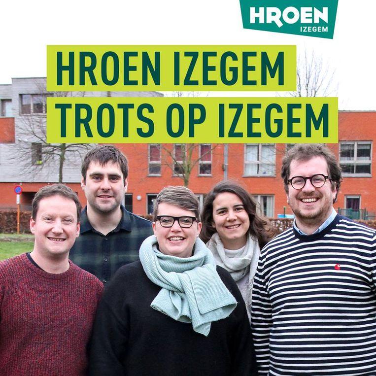 Het nieuwe logo van Hroen Izegem.