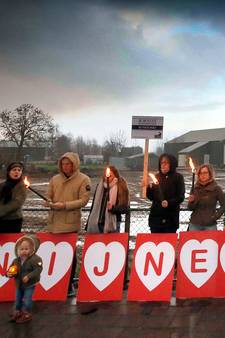 Onbegrip in Leerbroek, ondanks vreedzaam protest Konijn in Nood