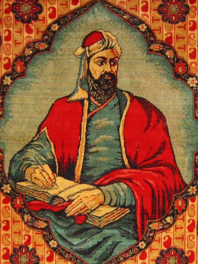 De Perzische dichter Nizami, die het verhaal van Laila en Majnun vastlegde. Beeld
