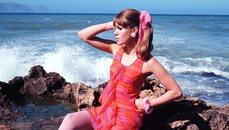 Joanna Lumley als model in 1967. Beeld Popperfoto/Getty Images