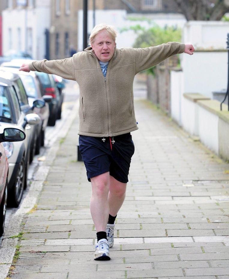 Burgemeester Boris Johnson rent door Londen. Beeld epa