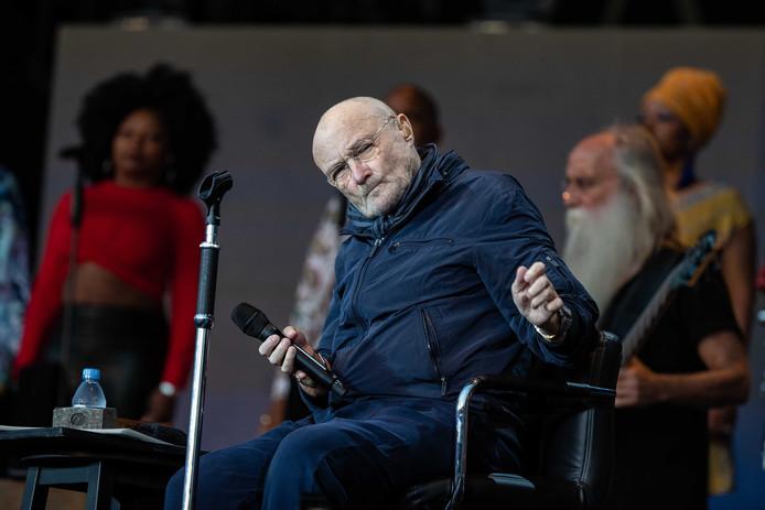 Phil Collins in het Goffertpark eerder dit jaar.