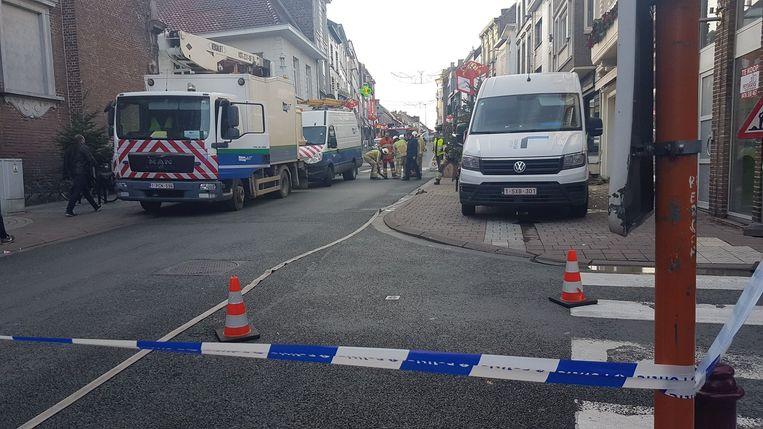 De Grotestraat werd een tijdlang afgesloten voor een gaslek.