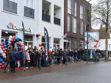Stormloop op gratis pizza's in Cuijk