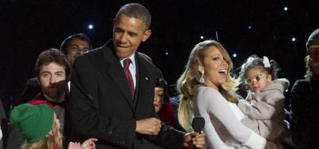 Zoontje Mariah Carey gaf over op de jurk van Michelle Obama