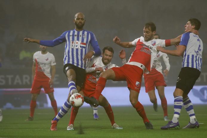 Willem Janssen in de wedstrijd tegen FC Eindhoven.
