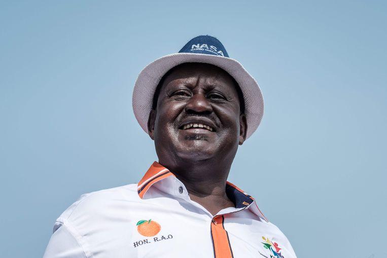 Oppositieleider Raila Odinga vocht de uitslag aan, met succes. Nieuwe verkiezingen staan voor 17 oktober gepland. Beeld AFP