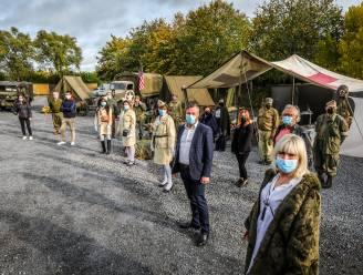 """VIDEO. Militair veldhospitaal aan feestzaal Gravenhof: """"Een boodschap van hoop aan iedereen in de horeca"""""""