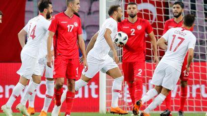 WK-tegenstander Tunesië niet voorbij tien Turken na bizarre rode kaart