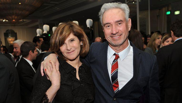 Sony-baas Amy Pascal (links) Beeld ap