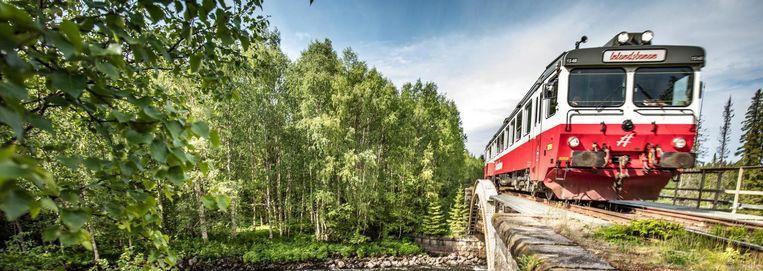De Fiattrein van de Zweedse Inlandsbanen. Beeld Håkan Wike