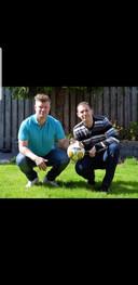Twee van de drie oprichters ( Peter de Wit, Anton de Wit en Hans van Marwijk) van de Arnhems-Nijmeegse zaalvoetbalbond ANZVB.