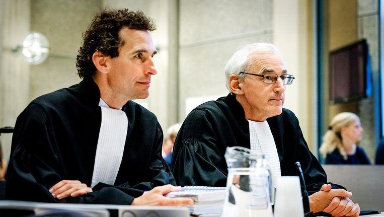 Advocaten van AkzoNobel in de rechtbank in Amsterdam. Beeld anp