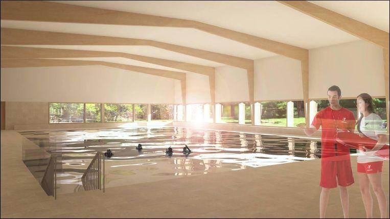 Zo zou het toekomstige zwembad eruitzien.