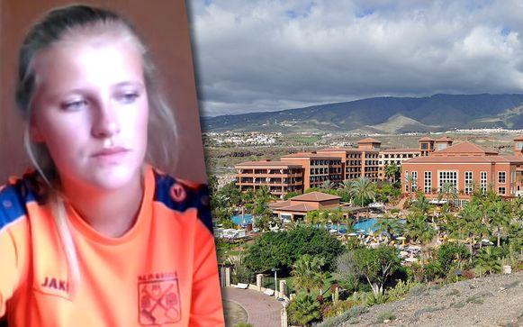 Maxine Lapin verblijft samen met haar broer en ouders in het H10 Costa Adeje Palace-hotel in Tenerife.