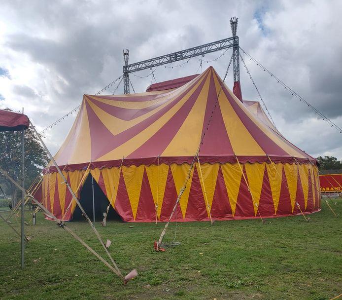 De tent van circus Barami