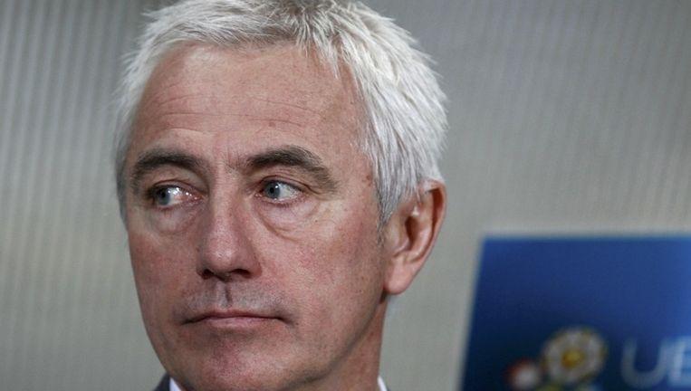 Bondscoach Bert van Marwijk voor aanvang van de wedstrijd tegen Hongarije. Beeld reuters