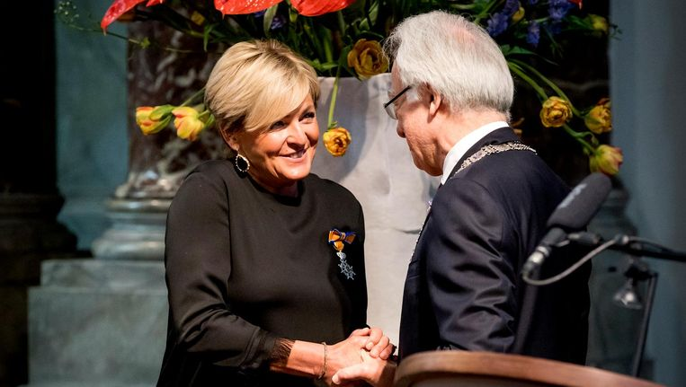 Caroline Tensen is een van de Amsterdammers die een lintje kregen. Beeld anp