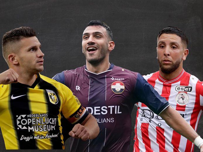 Bryan Linssen, Vangelis Pavledis en Mohamed Rayhi.