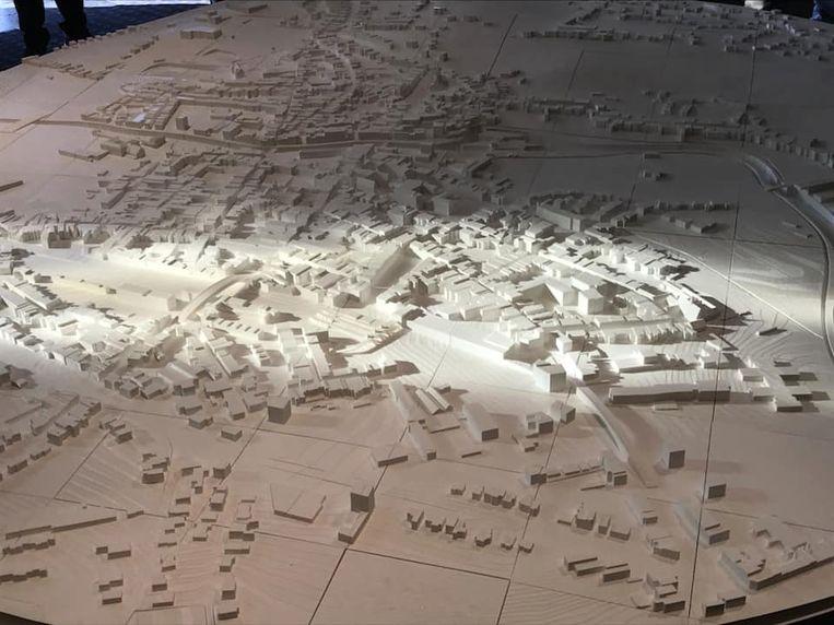De 3D-maquette kan meegroeien met de verdere ontwikkeling van de stad.