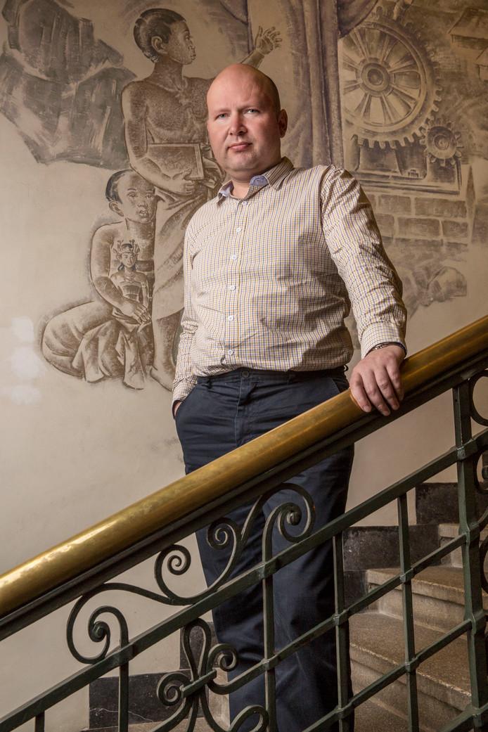 Advocaat Göran Sluiter: hij vertegenwoordigt drie tegenstanders in het hoger beroep over 'minder, minder, minder'.