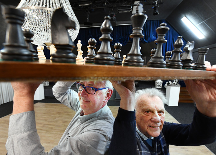 Ben Driessen (l) met Hans Bouwmeester.