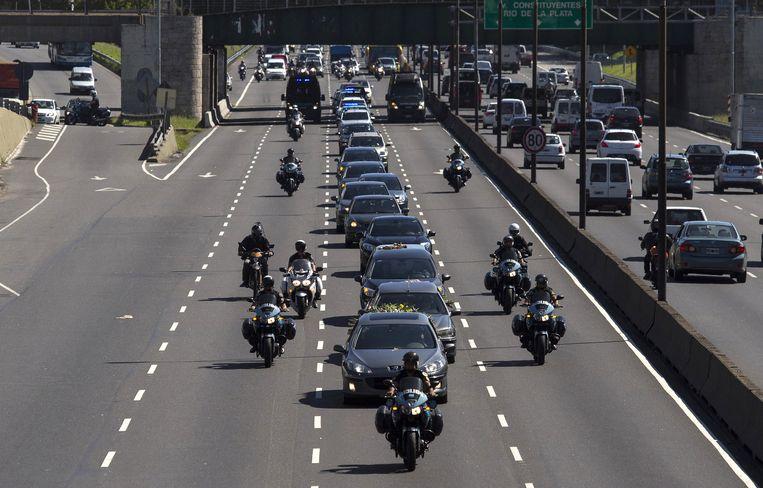 Begrafenisstoet voor Nisman, afgelopen donderdag. Beeld ap