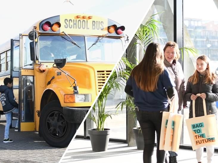 Amerikaanse schoolbus vervoert belangstellenden naar Minkema College