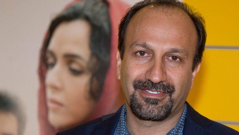 De Iraanse regisseur Asghar Farhadi op de première van zijn film The Salesman in Parijs, oktober 2016 Beeld ap
