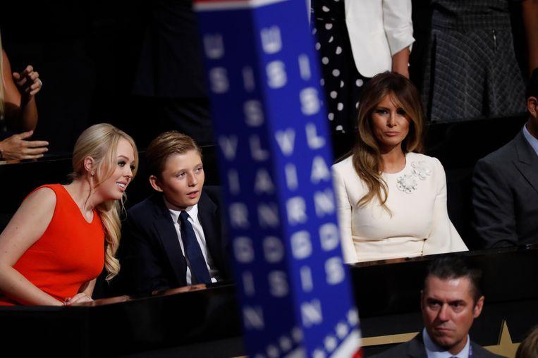 Tiffany Trump, Barron Trump en Melania Trump. Beeld AP