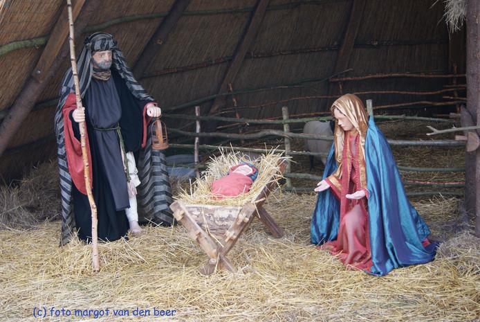 Jozef en Maria in de kerststal van Heeze