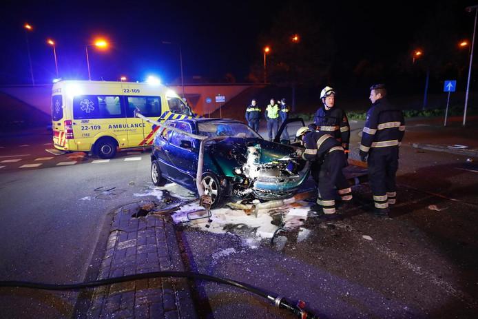 Eenzijdig ongeval op de Hugo de Goeslaan in Eindhoven