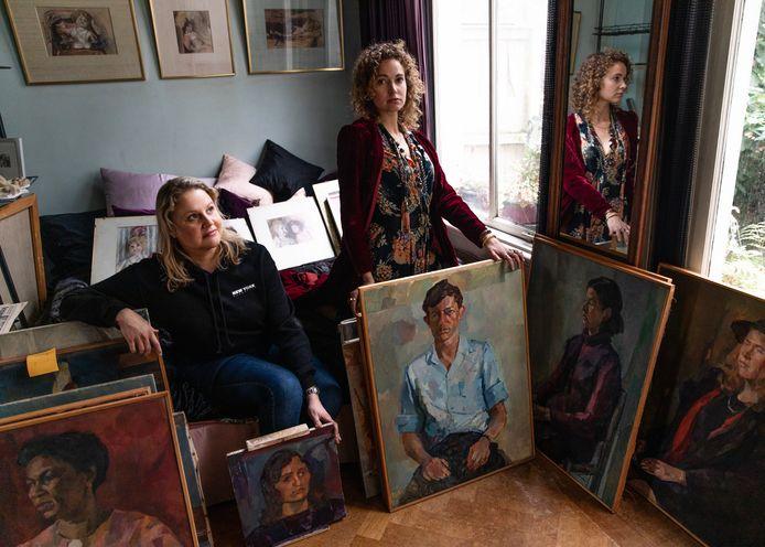 Renée Stotijns dochters Zaphira Bor (rechts) en zus Esmee (links).