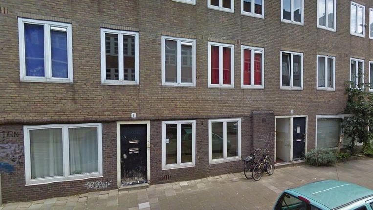 Krakers bezetten pand nr 1, 3 en 9 in de Vechtstraat Beeld Google Maps