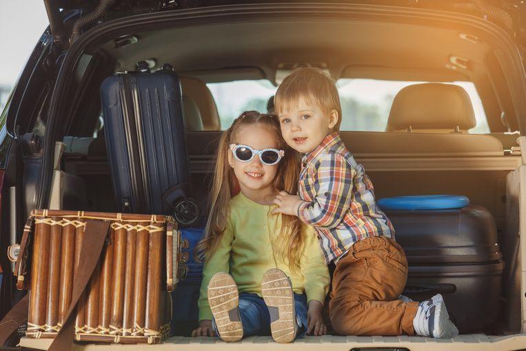 In de koffer als de achterbank vol zat? Geen probleem vroeger!