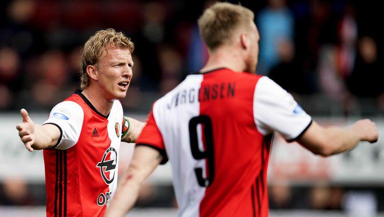 Dirk Kuyt en Feyenoord hebben ondanks de pandoering van gisteren bij Excelsior nog steeds de beste papieren.