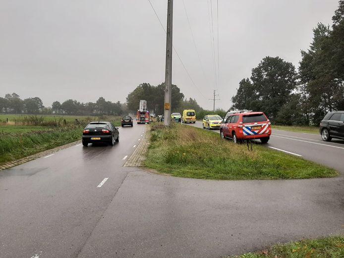 Het ongeluk op de N319.