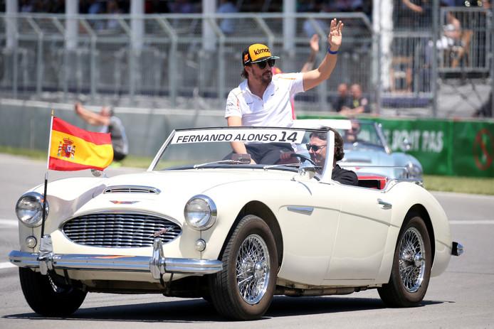 Fernando Alonso voor de Grand Prix van Canada.