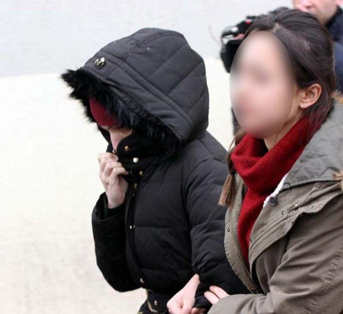 Amina Ghezzal lors de son arrestation en Turquie.