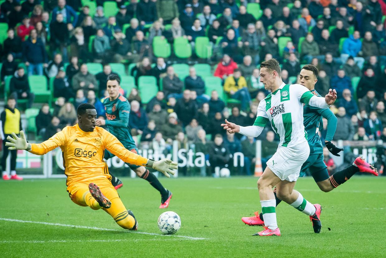 Bruno Varela had tegen FC Groningen (2-1 verlies) een ongelukkig debuut in de eredivisie.