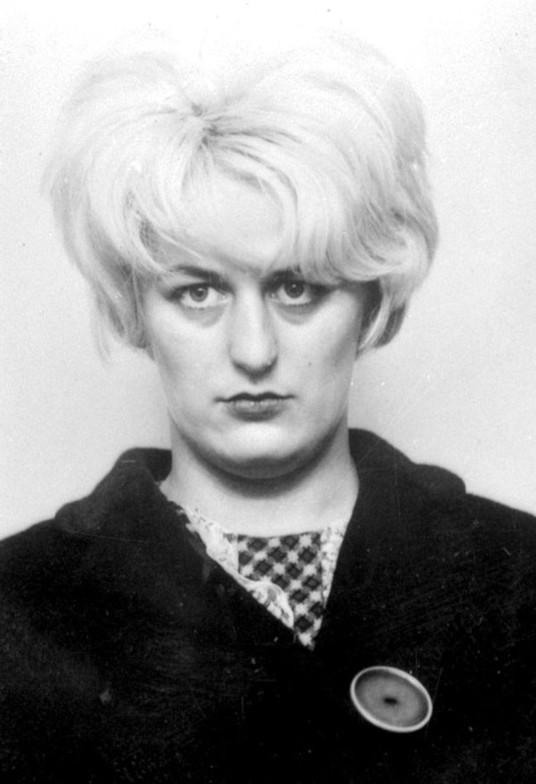 Myra Hindley op een foto uit 1966, het jaar dat ze samen met Brady veroordeeld werd.