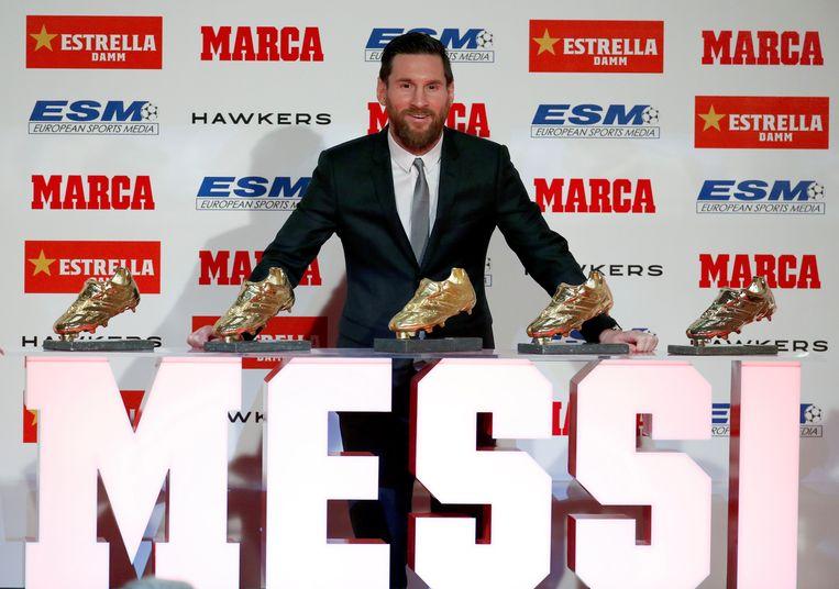 Lionel Messi ontving dinsdag zijn vijfde Europese Gouden Schoen, de prijs voor beste schutter op ons continent. Een record.