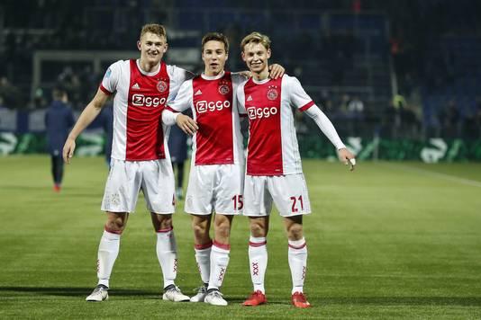 Ten Hag: De Ligt en De Jong willen graag bij Ajax blijven