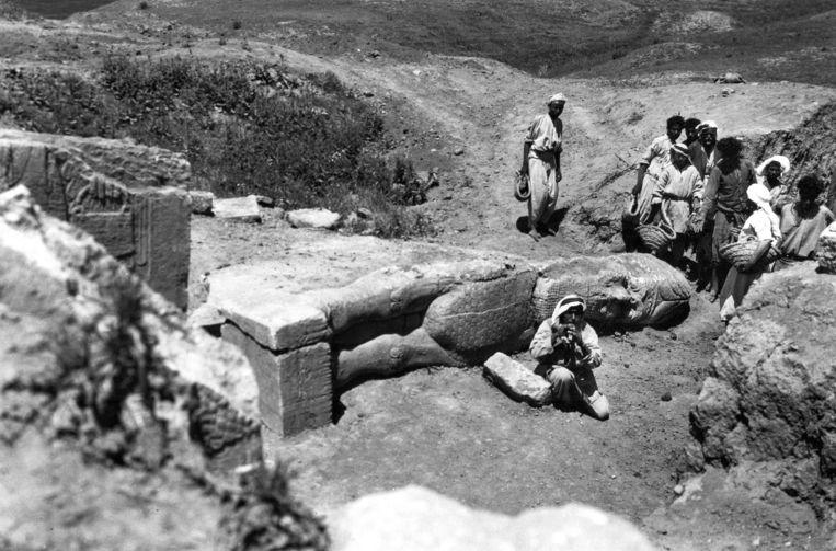 Foto gemaakt door Agatha Christie zelf in 1946 in Nimrud, vlak bij Mosul in Irak.  Beeld AP