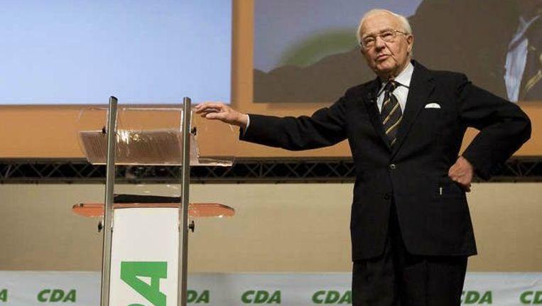 Oud-premier Piet de Jong: weggezet als niet meer van deze tijd. Beeld ANP