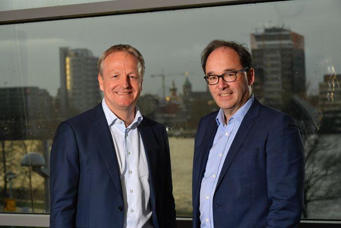 Maarten Wetselaar, directeur nieuwe energie van Shell, en Frank Roeters van Lennep, hoofd investering private markten PGGM.