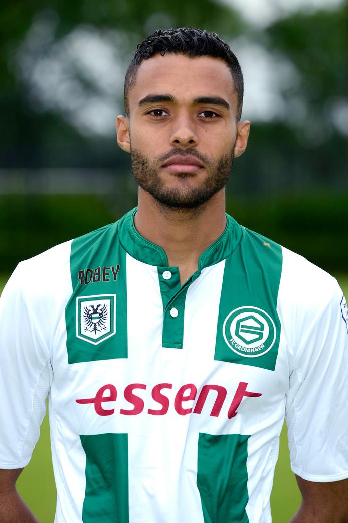 Abel Tamata in het shirt van FC Groningen.